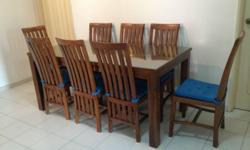Teakwood dining table on sale at only SGD 950. Can