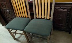 Moving sale 2 Wooden Chairs, good condition. Our