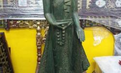 Moving sale Burma Wood Statue, H 124cm. Our showroom