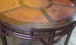 Moving sale Chicken Wing Wood Dining Table with 6