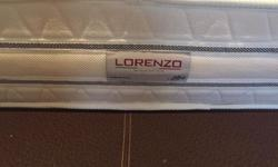 Like new Lorenzo Queen size Leather bedframe and