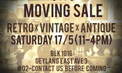 MOVING SALE :: Retro X Vintage X Antique 17 May 2014 -