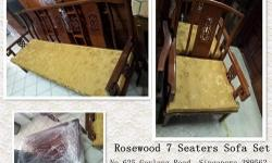 Moving sale Rosewood 7 Seaters Sofa Set, free delivery,