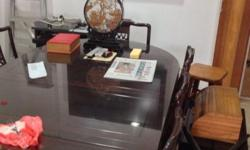 Moving sale Rosewood 8 Seaters Dining Table set, free