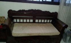 Moving sale Teakwood 2 Seaters Sofa, good condition,