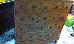 Moving sale Teakwood Cabinet with 12-20 Drawers, good