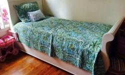Gently used Twin size trundle bed from the US for sale.