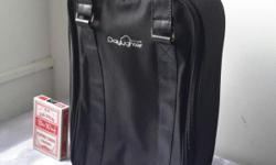 Multi purpose compartment black bag. The slots inside