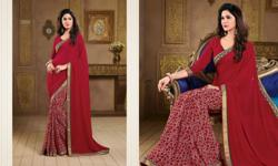 Global Collections Sarees -Mulicolor Georgette Sarees