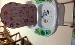 Musicals high chair with 6 different songs to entertain