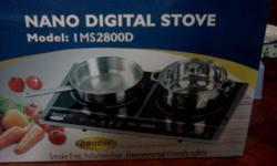 Nano digital stove - new. never installed. 2 heating