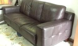 Full leather 3 sweater sofa - Lorenzo brand - Cost