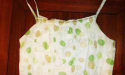 New A YEN moss green polka dress with full inner