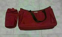 Brand new item: Red Aprica diaper bag - With zip & lots
