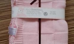 New piccolo bambino knitted baby blanket plus a very
