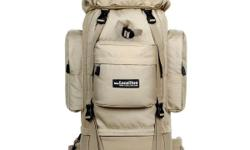 NEW backpack bag 75+10L with top/side bags with straps