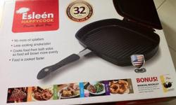 Brand new double grill pan from shopping department.