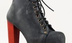 Authentic Jeffrey Campbell Lita Black Distressed