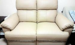 Brand new 2 month old SEAHORSE leather sofa recliner 2