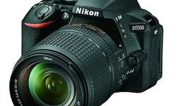 Selling a new Nikon D5500 DSLR camera with a 18-140mm
