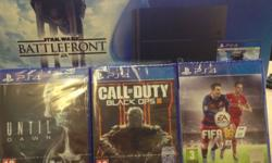 Brand New Playstation 4 + 4 games 500GB 2 Controllers &