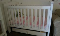 Divine Boori Country cot and matching change table in