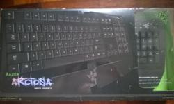Selling a new razer arctosa keyboard with box. This