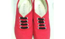 - size 37 - red shoe - super comfy - brand new (bought
