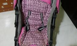 Solid Sweet cherry branded stroller in good