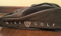 Nike golf ventilated shoe bag - zip at the center for
