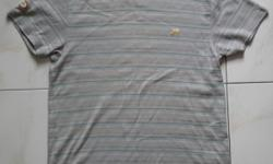 Nike t - shirt. Grey with thin green stripes t-shirt.