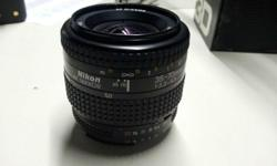 Lens in good working condition. Some dust particles