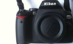A 2009 Nikon D60 DSLR Body well cared for, moderately