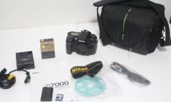 D7000 body used with good condition. shutter count: