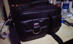 Nikon Leather Camera Bag Good Condition Asking $50
