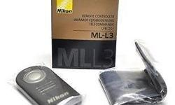 Nikon ML-L3.Remote sealed in mini bag inside golden box
