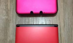 Barely used, as good as new Nintendo Red 3DS XL. Rest