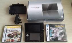 VERY GOOD CONDITION Nintendo 3DS console (BLACK) with 2