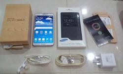 White Samsung Galaxy Note 3, LTE, 4G, 32GB Phone is in