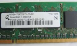 1 pc of sodimm ram for notebook: 512MB PC2-5300s