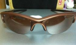 Brown Oakley Sunglasses for Sale, half frame. Still in