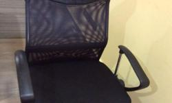 Good condition office chair with rollers n back rest