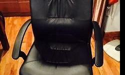 office chair black -used cash and carry message if