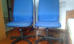 Office/study chairs (2) pcs at $30 only. Cash and carry