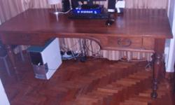 Good solid office table for sale. Legs with extensions