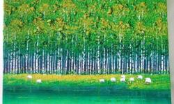 ~~~ Oil PainTing � �Green FoRest� $78~~~ One piece oil