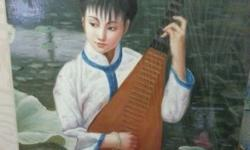 Original. Hand painted oil on canvas. Series of Chinese