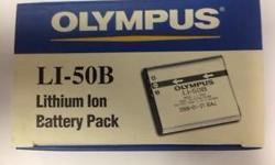 Olympus LI-50B Lithium Ion Battery New & Original