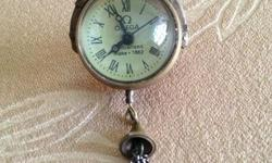 Antique crystal ball fob watch ! Winds-up for an