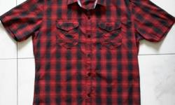 Beverly Hills red black checkered shirt. City gear,